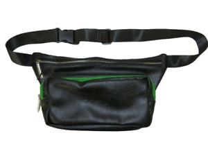 Calvin Klein Fragrances Black Green Unisex Faux Leather Fanny Pack Waist Hip Bag