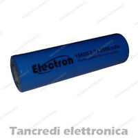 Batteria pila litio li-ion lir icr 18650 3.7v 2600mAh pin piatto flat top 6178