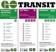 GO 🚌🚆 Schedule Map Bus Train 2019 Canada Ontario public transport transit