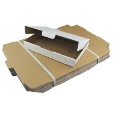 100 x White Cardboard Boxes 340x240x50mm White Packaging Carton Cardboard Box