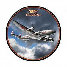 "TWA Lockheed Constellation 14"" Round Metal Sign LG615 Trans World Airlines"