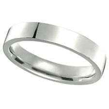 4mm Wedding Ring Band Flat Comfort Fit 14k Gold