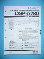 Service Manual Instructions for Yamaha DSP-A780, Original