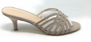 Athena Alexander Womens CECE Heeled Sandal Taupe Suede Size 10 M US