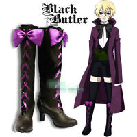 Black Butler II 2 Alois Trancy Anime Cosplay Costume Shoes Boots free shipping #