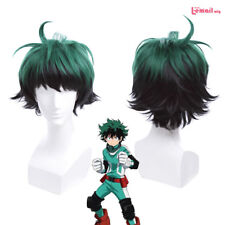 Baku no My Hero Academia Izuku Midoriya Wigs Short Green Mixed Black Cosplay Wig