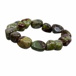 NEW Dragon's Blood Stone Tumbled Gemstone Bracelet Stretchy Elastic Jasper