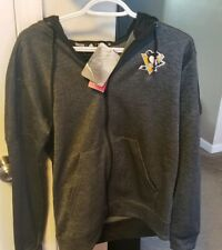 Pittsburgh Penguins Adidas Climawarm Full Zip Hoodie - Women's Sz M
