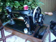 Antique Old Vintage Hand Crank  Singer sewing machine Model  201K See Video
