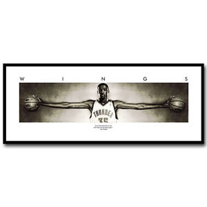 Kevin Durant Wings Basketball Silk Poster 12x30 inch