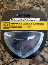 Jagwire Alloy Straddle Cable Carrier Black Pair