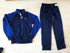 Mens Nike Tracksuit Size Medium Blue Jacket Pants Athletic NEW