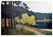 Walter Leistikow stampa d'arte poster immagine LUCE PRESSIONE grunewaldsee Berlino Breen