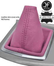 Manual de Cuero Real de grano superior de color rosa Polaina de Engranaje para Ford Focus MK2 2008-2011