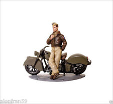 SOLDIERS ON MOTORCYCLE Indian Chieff 1945 USA Airforce pilot. SMI009