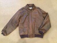 Vintage L.L. Bean Men's Leather Bomber Jacket Size XXL Excellent Condition