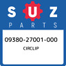 09380-27001-000 Suzuki Circlip 0938027001000, New Genuine OEM Part