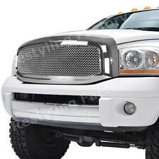 06-08 Dodge RAM Truck 1500+2500+3500 Front Hood Chrome Mesh Grille+Outer Shell