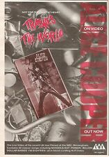 ALICE COOPER Trashes The World 1990 UK Press ADVERT 10x7 inches