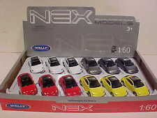 12 Pack of VW Volkswagen New Beetle Die-cast Car 1:60 by Welly 3 inch Assorted