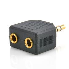 Hot 3.5mm Jack 1 to 2 Double Earphone Headphone Audio Splitter Converter Adapter