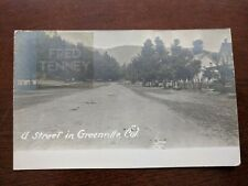RPPC- Open Dirt Road Surround Trees Homes Street In Greenville, CA - 1912