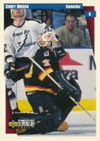 97-98 Collector's Choice #258 COREY HIRSCH - Vancouver Canucks Kassel Huskies
