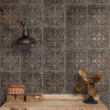 Embossed Metallic Panel Pressed Patina Steel Ceramic Wall & Floor Tiles Sample