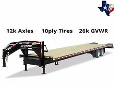 Brand New Texas Pride 8.5' x 25' Equipment Trailer, 26k gvwr
