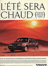 PUBLICITE ADVERTISING 1993 VOLVO  440 460 480 TOSCANE
