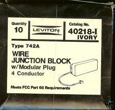 10NEW Leviton 40218-I Wire Junction Blocks