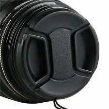 YellowKnife 58mm Camera Snap On Lens Cap with Strap For Canon EOS Rebel T4i,6D