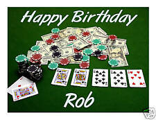 Poker Casino edible cake image personalized frosting sheet party decoration