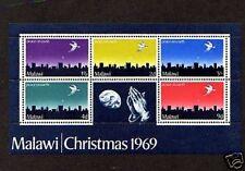 MALAWI - 1969 - CHRISTMAS - DOVE - PRAYING HANDS - PEACE - MINT S/SHEET!