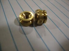one PAIR of Vintage 4mm Solid Brass Spark Plug Thumbnut, Norton BSA Triumph  AJS