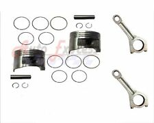 NEW FITS HONDA GX620 Piston Rings Pin Clips Connecting Rods Set of 2