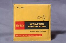 "81C sealed new yellow 75mm Square Kodak Wratten 3"" gelatin filter"