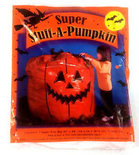 "Stuff-A-Pumpkin Lawn Leaf Bag Super Size Jack-O-Lantern Halloween 45""x48"""