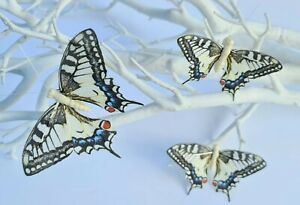3 Artificial Realistic Feather Butterfly Butterflies Craft Wedding Accessories