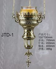 Brass Hanging Vigil Lamp Church Lamp New Nice JTD-1