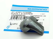 Genuine Shimano Tiagra ST-4700 Side Plate Name Plate & Fixing Screws, Left
