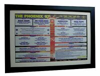 PHOENIX FESTIVAL+LARGE POSTER+AD+RARE ORIGINAL 1997+FRAMED+EXPRESS GLOBAL SHIP