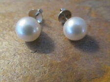 18 KT White Gold & Paspaley South Sea Pearl Earrings Classic Stud 10 MM.....NEW