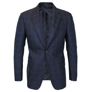 Emporio Armani - G Line Navy Check Blazer - 48S/UK38S - *NEW WITH TAGS* RRP £495