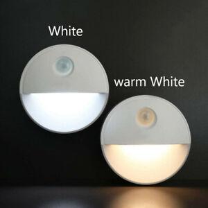 LED Nachtlicht mit Bewegungsmelder Sensor Lampe Batteriebetrieben Nachtleuchte