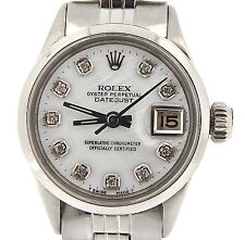 Rolex Datejust Lady Stainless Steel Watch Jubilee White MOP Mother Pearl Diamond