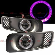 Purple LED DRL Halo Angel Eyes Projector Fog Lights Lamps Kit Fits 99-00 Civic