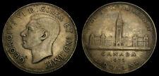 Canada 1939 One 1 Dollar Piece King George VI Choice Satin Toning AU