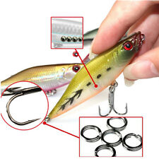 2pcs Fishing Lures 3D Eye Floating Minnow Crank Baits Poper Lure Fishing a