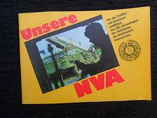 """5624 EAST GERMAN/DDR/GDR Cold War """" OUR NVA promotional booklet """" cir 1983"""
